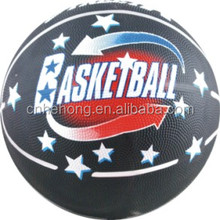 2015 Hot Selling Wholesale Rubber Basketball With Colorful Printing