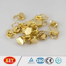 professional zipper long head slider shiny gold zinc alloy metal zipper slider