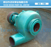 Small river used sand pump for dredging
