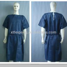 Disposable nonwoven patient gown, short sleeve