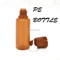 30ml Amber PE Screw Top Plastic Containers Bottles with Colorful Caps Smoke Oil Bottles