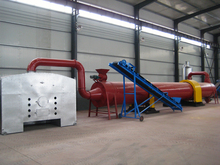 high thermal efficiency rotary drum dryer for wood