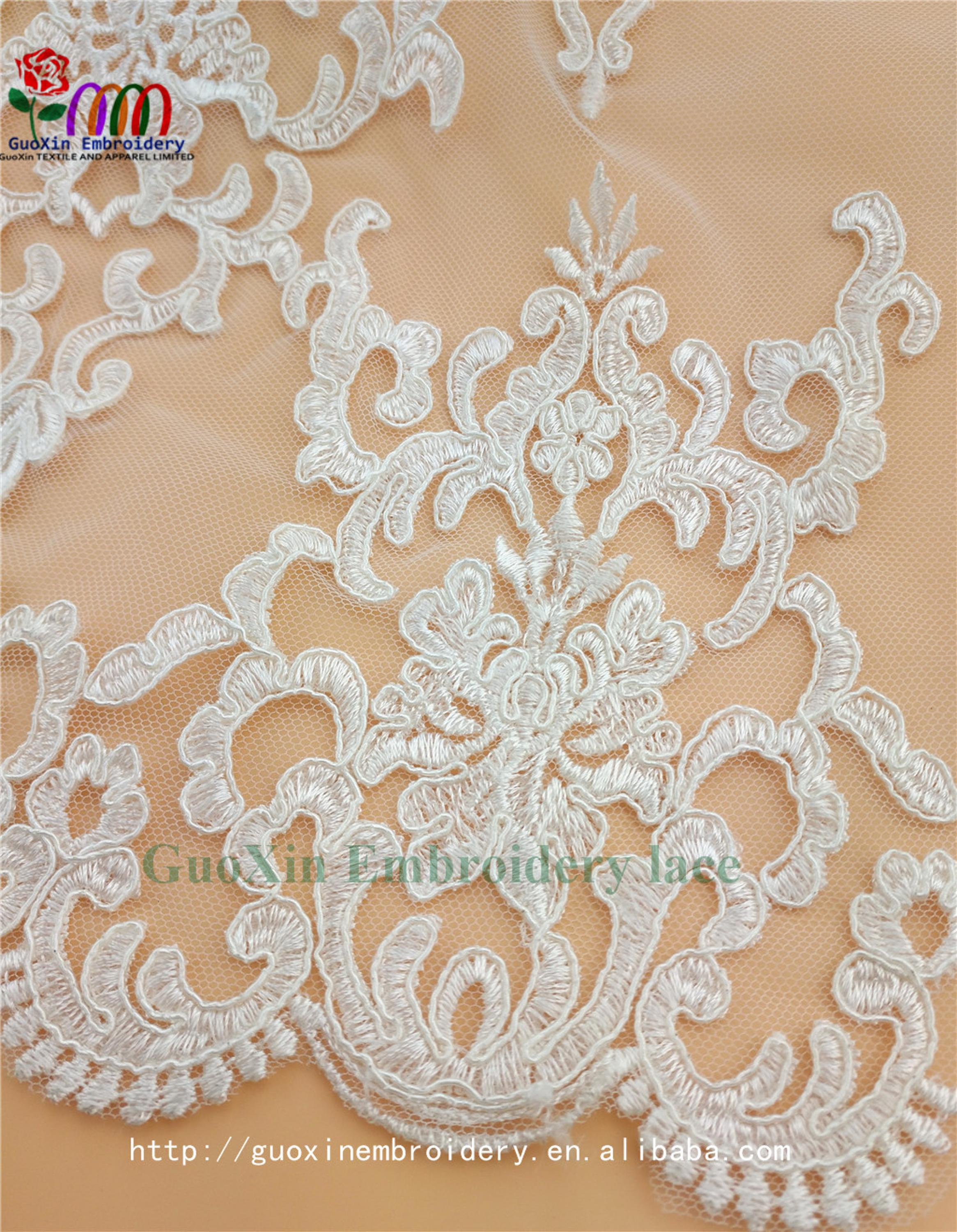 embroidery tulle manufacture wholesale wedding veil ivory lace fabric with cording (6).jpg