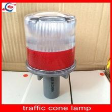 road safety traffic plastic led flashing solar traffic cone lamp