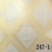 Water resist PVC Laminated Gypsum Ceiling tile / PVC Gypsum Ceiling Board For Mordern House Decoration