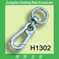 H1302 Zinc Alloy Large Size Spring Ring Snap Hook with Eye