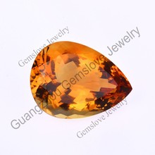 Excellent Cut Pear Shaped Natural Untreated Citrine Raw Natural Madeira Citrine