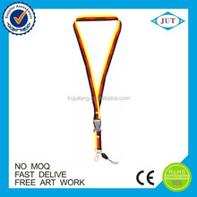 Promotional gifts country flag printed polyester neck custom lanyard