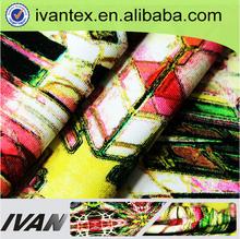 ivan textil suave toque hermoso digital de diseño de impresión poli chiffon de seda de tela de poliéster