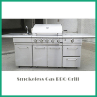 commercial outdoor kitchen/Stainless steel bbq gas grill/gas bbq range cooker