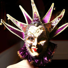 Fashion 2015 New Italy Venetian mask venetian masquerade mask, 7 corner with collar Venetian mask