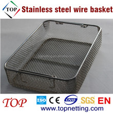 Stainless steel lids and locks wire basket