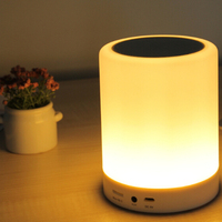 Wireless Audio Lamp Bluetooth Speaker with White LED Lamp Light for Computer or phone
