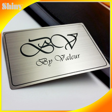 Stainless steel with etching and printing logo factory quality metal id card holder