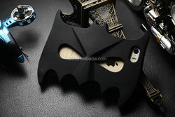 High quality cartoon case For iphone 5 4S 6 3D bat shape silicone case