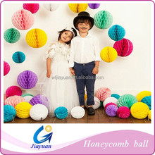 Colorful Tissue Paper ,Honeycomb POM Ball for Chair Decoration/20cm/30cm