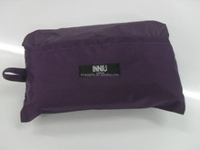 Hanging polyester foldable toiletry bag