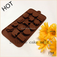silicone ice cube tray 3D heart shaped silicone nonsticky chocolatecake mould for Valentines Day