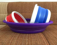 Beutiful Plastic Round Small Folded Water Barrel Foldaway Basket