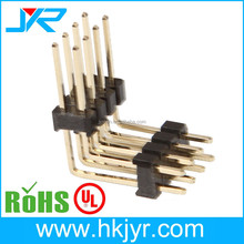 Gold Plated Pin Header 2.0mm Pitch 2 Row 90 degree 2x4 pin male connector with double plastic/layer