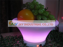 Wholesale outdoor furniture PE RGB Led Light Tray/Led Light Tray/Night club Flashing plastic LED fruit plate