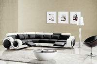Nice home furnishings big sectional furniture leather sofa wholesale prices 109C