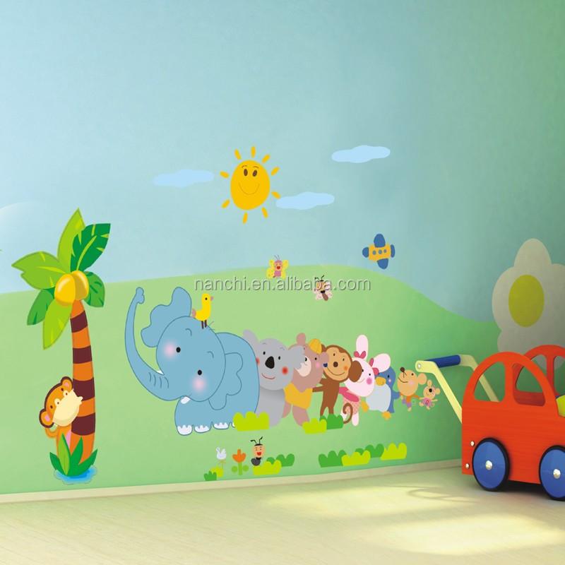 Diy adesivos de parede remov vel dos desenhos animados for Adhesivos para habitaciones infantiles