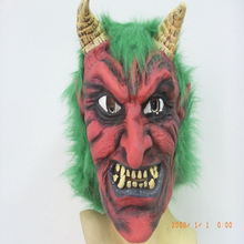 DJ-025 yiwu caddy High Quality Plastic Red Devil Mask for sale