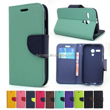 Fashion Book Style Leather Wallet Cell Phone Case for HTC 501 with Card Holder Design