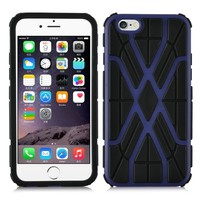 TPU + PC Hard Back Cover Shockproof Hybrid Case For Apple iPhone 6 4.7""