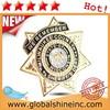 2015 hot sales custom Metal pin Badge in plating gold and enamel