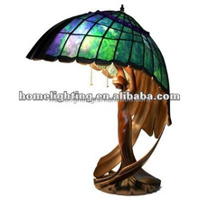 FT-20286 Tiffany Style Stained Glass Flying lady Pedestal Desktop table lamp