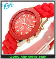 Wholesale interchangeable strap quartz silicone watch for ladies