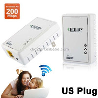 Wholesale hot selling portable Mini EDUP EP-PLC5513 200Mbps Network Ethernet Bridge Powerline Homeplug with EU and US standard
