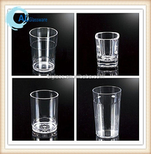 clear disposable shatterproof drinking plastic glass, plastic shot glass