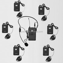 Digital Wireless Audio System Tour Guide Equipment with 32 channels and GFSK mode for guiding tours and travelling