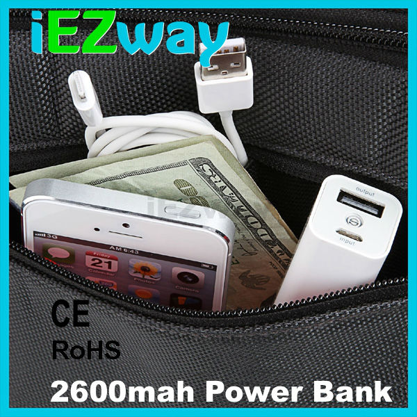 2015 High Quality Portable Power Bank 2600mah For All Kinds Of Mobilephone