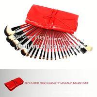 22 Piece Red makeup brush set concealer makeup brush