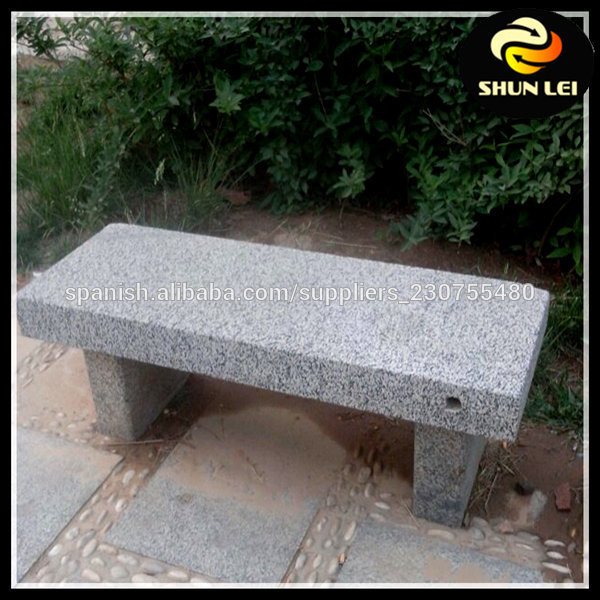 Granite portable for Banc jardin pierre