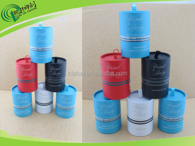 custom paper tube packaging cardboard paper tube with ribbon
