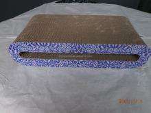 Hot-selling Purple Cat Scratching WHolesale Corrugated Cardboard Cat Scratcher Pad/Cat Toy