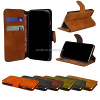 Suede Flip Wallet Phone Leather Case For HTC ONE M9