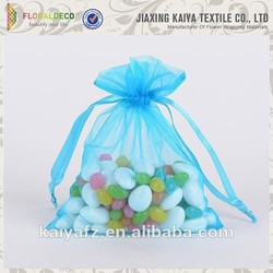 Gift jewellery packaging sheer colorful small organza bags