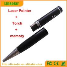 1mw 5mw red laser poiner pen LED torch USB flash drive laser pointer ball pen