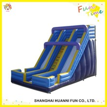 2015 newly design PVC 0.55mm three lanes inflatable water slide with climbing wall price