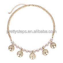 2014 Pretty Steps tree shape peral necklace women jewelry