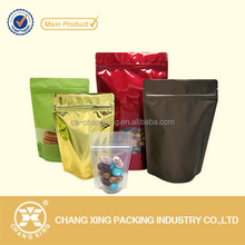 Various colours, opaque or transparent, gloss or matte plastic doypack manufacturer for cookies, candies, dried fruits, etc.