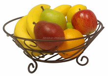Cheap handmade metal wire gift fruits basket