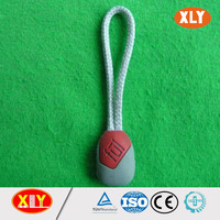 hot sale silicone cord customized logo fancy zipper cord
