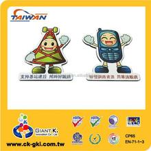 Cartoon figure printed paper promotional item fridge souvenir magnet